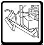 Side hoist log splitter