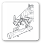 Hydraulic log lift Combined machine: Log splitter + Chain saw